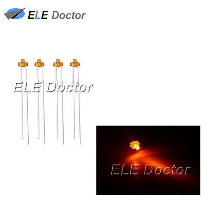 50pcs 1.8mm led diffused Orange led Orange lens led High Bright light lamp