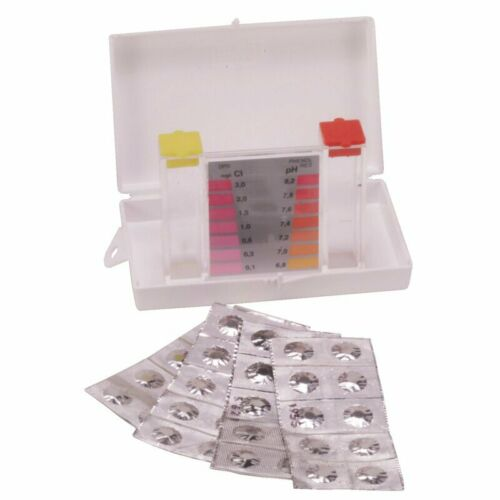 40 Tabletten 2-Kammertester Testgerät Whirlpool POOL Tester Chlormethode inkl