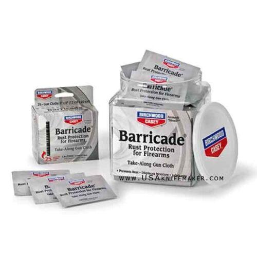 Birchwood Casey Barricade Take Along Salviette-Ruggine Protezione FUCILI doppiette
