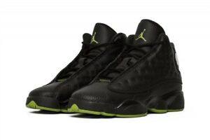 f61cbacd5c9 Nike Air Jordan 13 Retro Shoes Black Altitude Green Sneakers 414574 ...