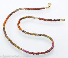 SAPHIRKETTE multicolor Edelsteinkette SAPHIR facettiert violett goldbraun gold