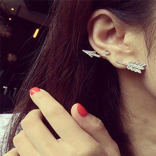 1x Creative Bow Arrow Crystal Ear Stud Women/'s Fashion Earrings Jewelry Gift bon