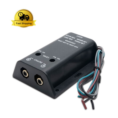 Car Audio Stereo Speaker Wire to 2 RCA Adjustable Line Level Converter Module