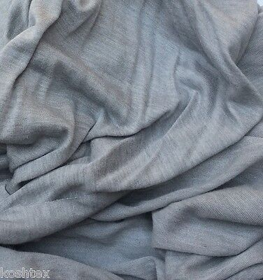 Modal Silk Fabric Jersey Knit by the Yard - Silver (Lingerie Fabric)