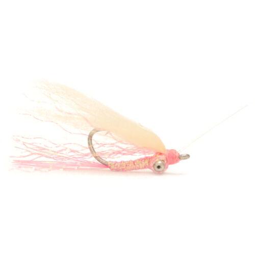 2 Gotcha Weedless Pink #6 Bonefish Flies by Umpqua NEW FREE SHIPPING