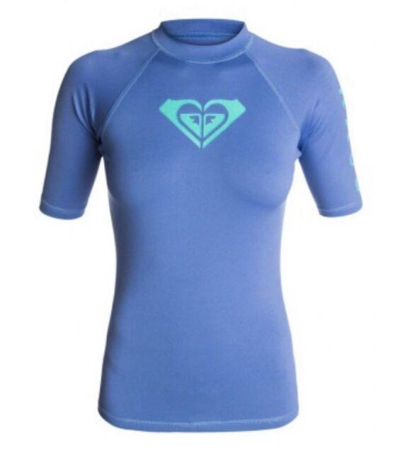 66757738dbc7 ROXY Rash Guard Whole Hearted UV 50 Swim Shirt Top Blue Women's X ...