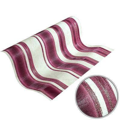 Textured Heavy Vinyl Stripe Wallpaper Rolls Cream //Pink P+S 02486-60 Gold