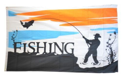 Fahne Fishing Angeln Flagge Angler Hissflagge 90x150cm