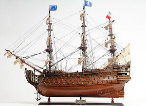 "Antiques Models & Kits Handcrafted Wooden Model Ship T059 Royal Louis E.e 37"""