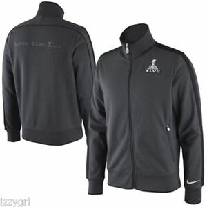 423fbbff6d81 NWT  100 NIKE N98 Super Bowl XLVII NFL Grey Track Jacket Original ...