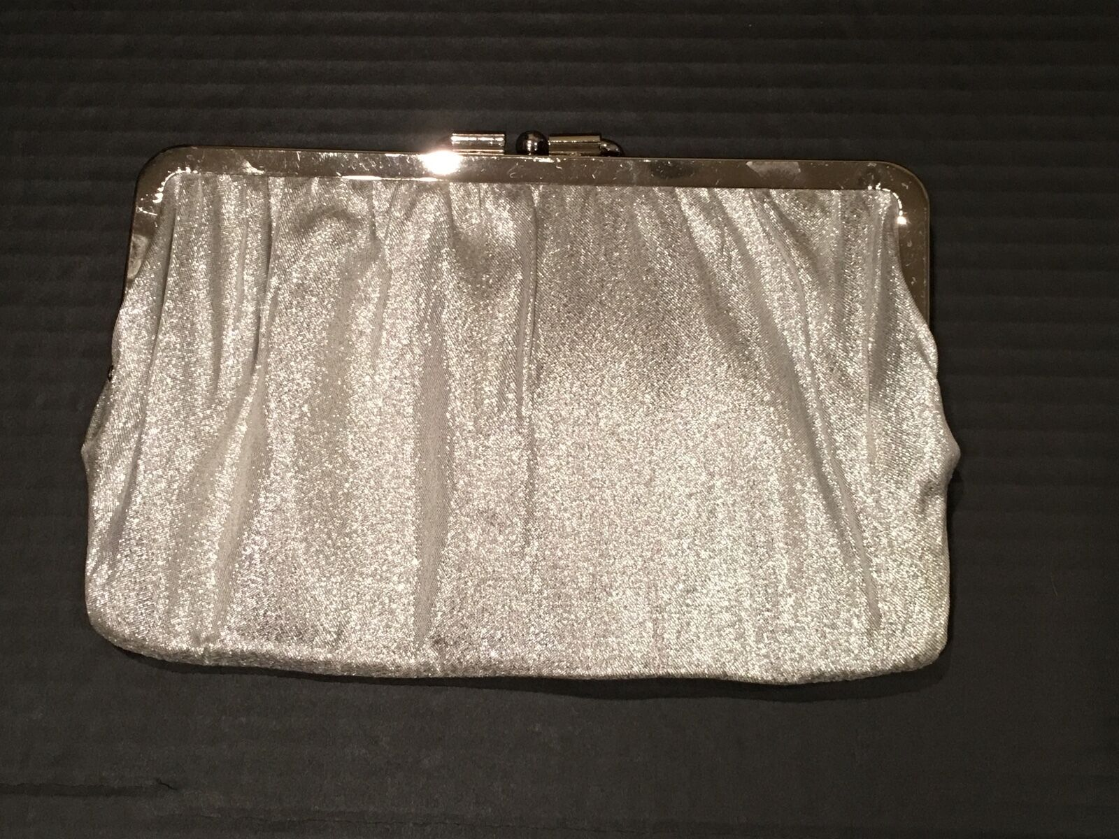 Reversible women's formal dressy clutch bag Black / Silver - Free Shipping