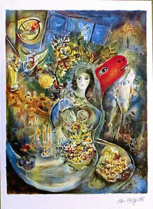 Marc Chagall BELLA Litho Print Signed Numbered 34 x 25
