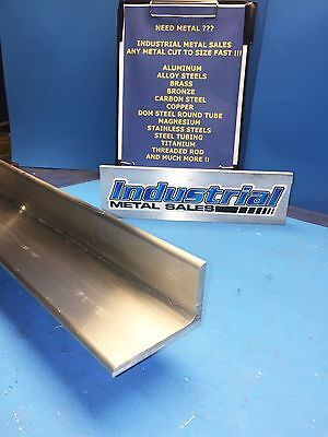 """2/""""x 2/""""x 1//4/"""" ALUMINUM 6061 ANGLE BAR 48/"""" long T6 Extruded Mill Stock .25/"""" Thick"""