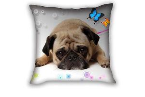Pug Sofa Home Decorative Cushion Cover Throw Pillow Case Cover Square 43x43cm