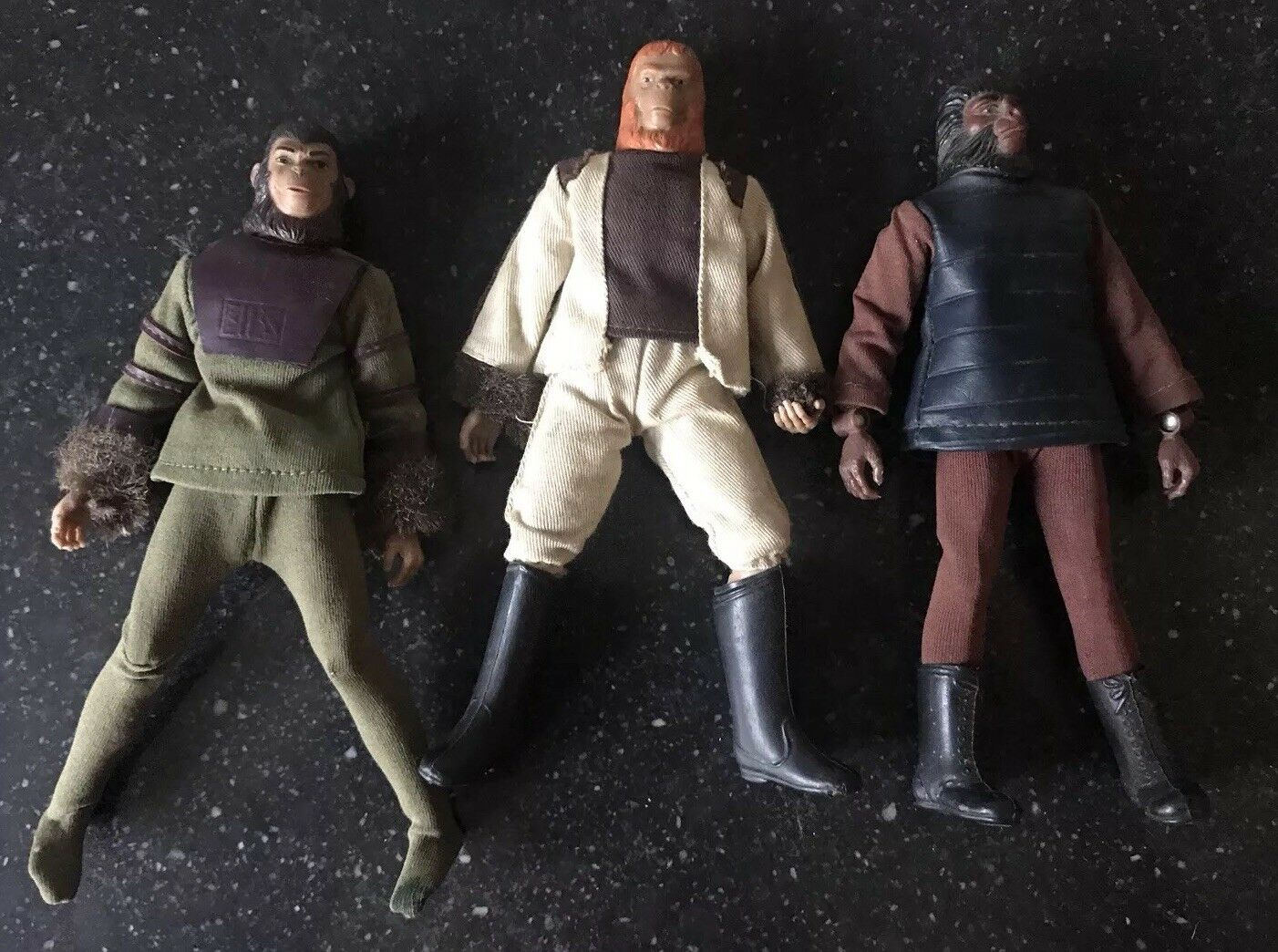 3 Vintage 1974 Mego Planet of the Apes Action Figures Cornelius, Doctor Zaius...