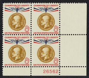 #1148 8c T. G. Masaryk, Placa Bloque [26562 LR ] Nuevo Cualquier 4=