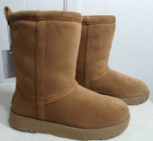 f2feccba49c Details about NEW UGG Boots CLASSIC SHORT WATERPROOF Chestnut Women's Size 7