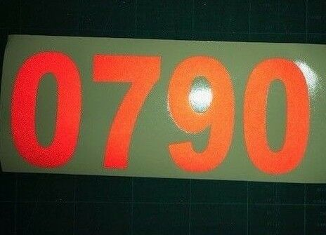 PAIR OF REFLECTIVE TELEPHONE NUMBERS STICKERS //DECALS 3 FOOT WIDE VAN TRUCK TAXI