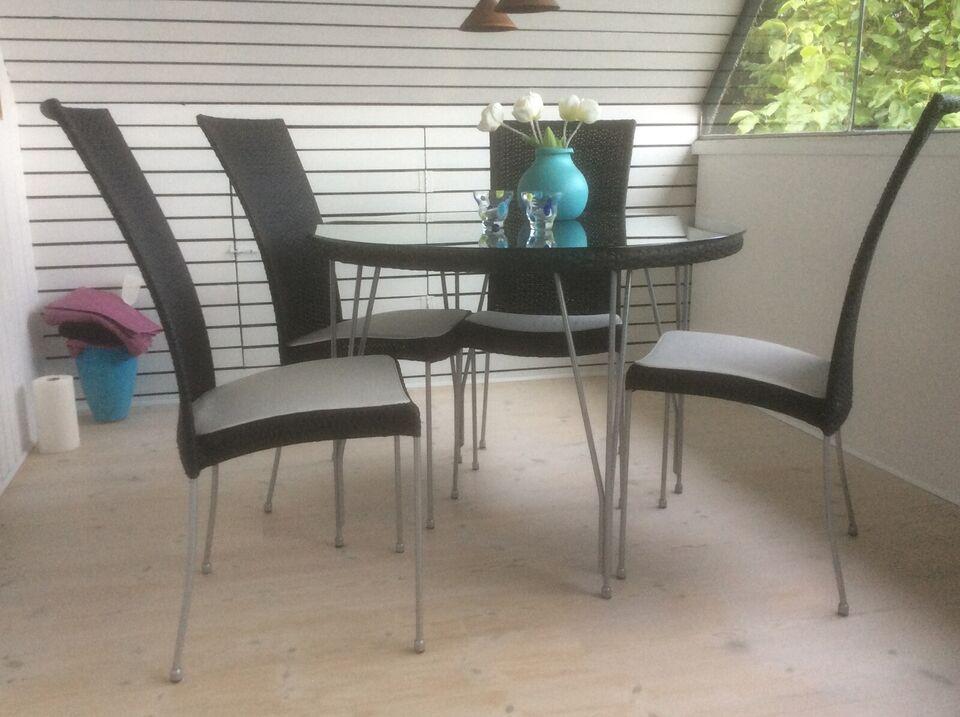 Havemøbelsæt, In-out Sika Horsnaes, stål og flet
