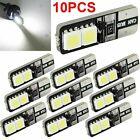 10x CANBUS ERROR FREE LED White T10 168 194 W5W Wedge 4 SMD 5050 Light bulb NEW