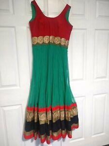 Indian-Designer-anarkali-churidar-salwar-kameez-Suit-Indian-Pakistani-green-dres