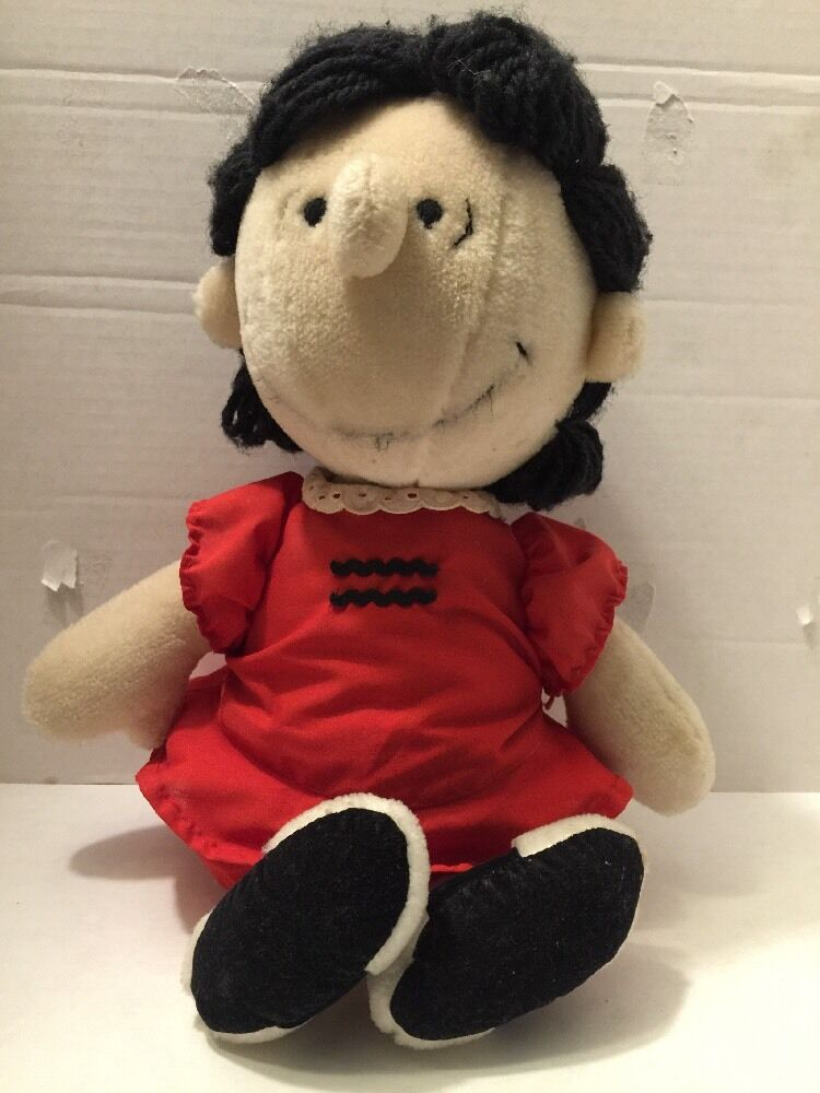 Vintage Charlie Brown Lucy Stuffed Plush Doll Toy 1963 United Feature Syndicate