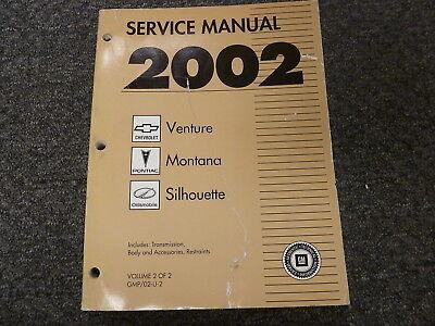 2002 chevy venture pontiac montana transmission body service rh ebay com 2002 Chevy Venture Overheating 2002 chevy venture repair manual free