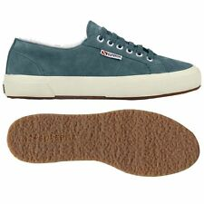 Sneakers SUPERGA invernali -55% num.41-42 -NEW-  scarpe in pelle leather shoes