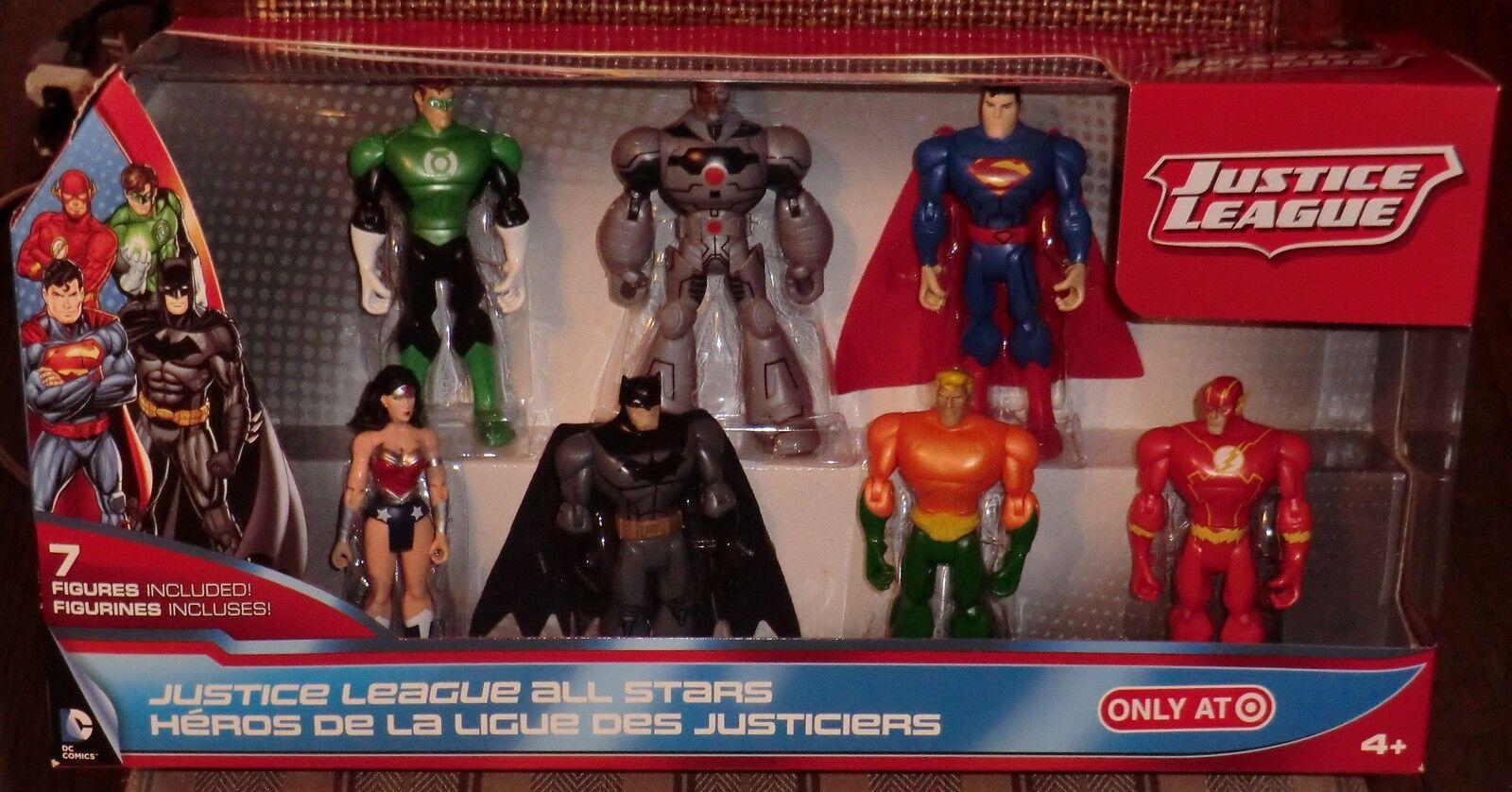 JUSTICE LEAGUE  TARGET EXCLUSIVE   7 FIGURE BOX SET   MIB
