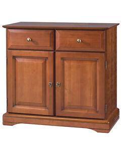 meuble bahut bas plaque merisier 2 portes 2