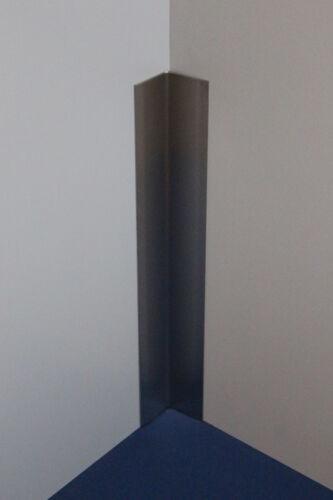 2500mm 40x70mm 3-fach gekantet. Innen Eckwinkel Edelstahl Abschlussleiste 2000