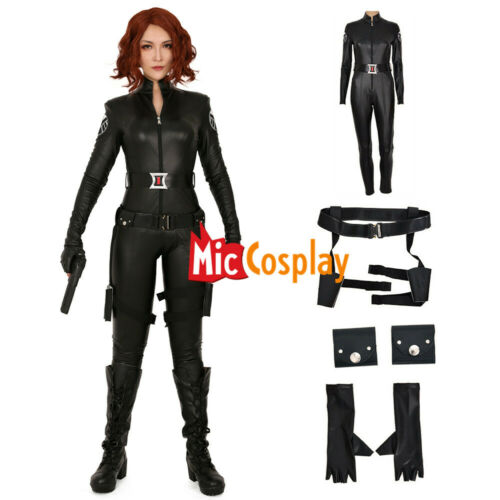 Black Widow Cosplay Costume Natasha Romanoff Halloween Jumpsuit Bodysuit