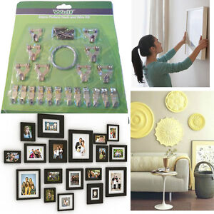 Picture-Hook-amp-Wire-Kit-22-pcs-DIY-Nails-Hanging-Loop-Tool-Wall-Decoration-Photo