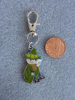 """Moomin Enamel Charm Pendant Necklace 18/"""" Silver Plated Chain Birthday Gift # 252"""