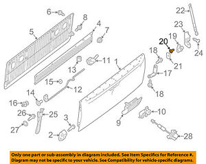 NISSAN-OEM-16-18-Titan-XD-Tail-Gate-Pick-Up-Box-Pivot-Screw-014120008U