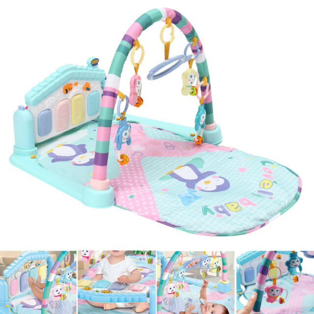 Controll US 3 In 1 Baby Gym Floor Play Mat Kick Activity Piano Musical Fitness