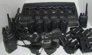 8-x-Motorola-GP344-UHF-GP-344-mit-6-Fachladestation-Schnelllader-Rasierer