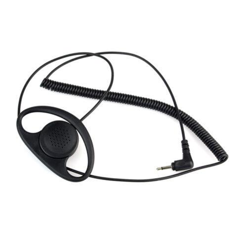 3.5MM Listen Only D Shape earphone headset Earpiece Earhook FOR SPEAKER MIC O4R6