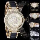 Fashion Women Ladies Crystal Bracelet Leather Analog Quartz Wrist Watch New