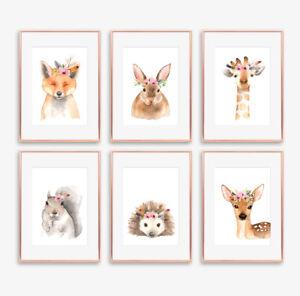 Woodland Letti Per Bambini.Woodland Floreale Boho Animale Stampa Baby Nursery Per Bambini