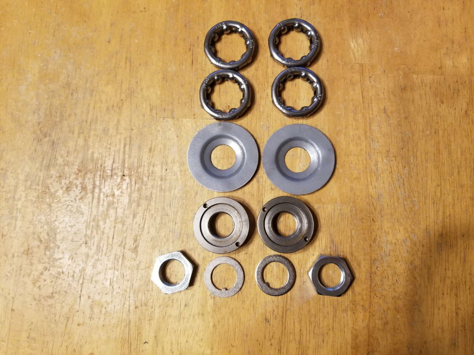 Worksman USA Front Hub Kit Dust Cap Bearings Nuts Washers Tricycle