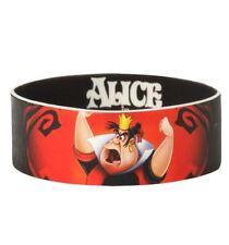 New Disney Alice In Wonderland Queen Of Hearts Rubber Bracelet Band