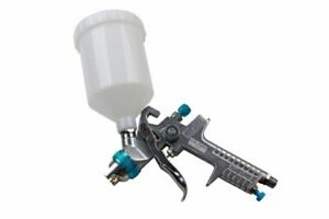BLUE-HVLP-GRAVITY-SPRAY-GUN-600ML-CUP-1-4MM-1-4-034-AIR-INLET-NOZZLE-US-PRO8769