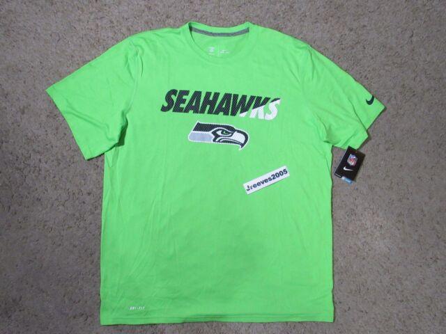 d0b15b0b5d0 Seattle Seahawks Nike 659861 Dri-fit Legend Staff Sideline Practice XL T- shirt