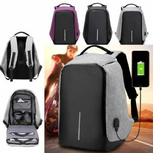 Men-039-s-USB-Charging-Anti-theft-Backpack-Travel-Backpack-Laptop-Shoulder-Bag
