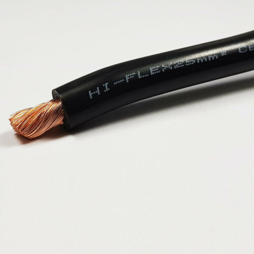 25mm2 Black Flexible PVC Battery Welding Cable 10 Metre 10 M ROLL 170 A Amps