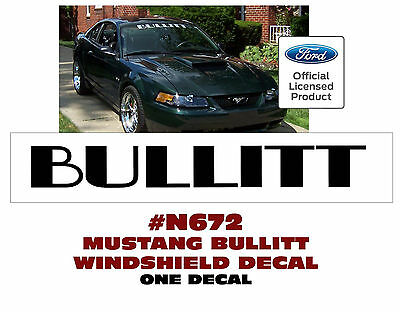 NICE LOOK N083 MUSTANG STICKER WINDSHIELD DECAL HORSING AROUND with PONY