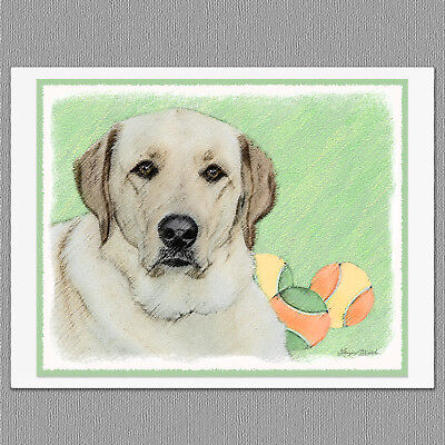 6 Labrador Retriever Black Lab Art Note Greeting Cards