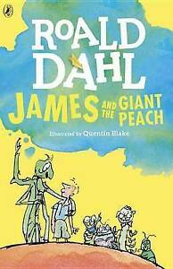 NEW-JAMES-and-the-GIANT-PEACH-by-ROALD-DAHL-paperback-splodge-cover