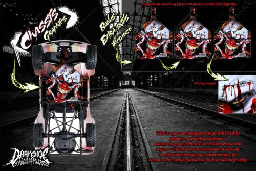 LOSI BAJA REY /& ROCK REY /'STIFF UPPER LIP/' CHASSIS WRAP DECAL KIT HOP UP RED